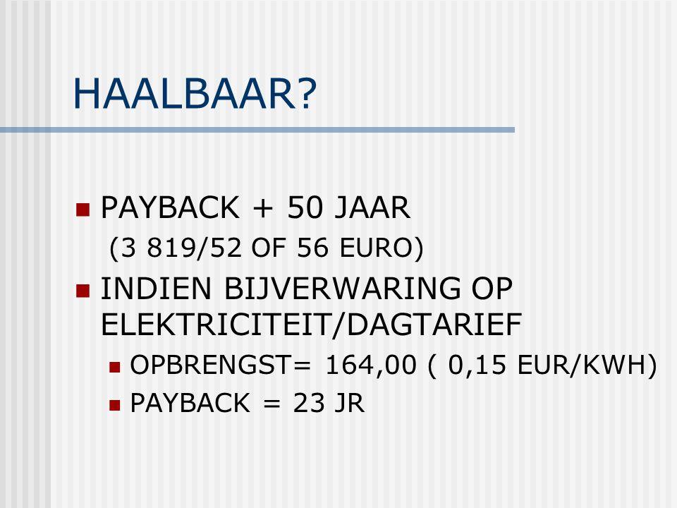 HAALBAAR PAYBACK + 50 JAAR