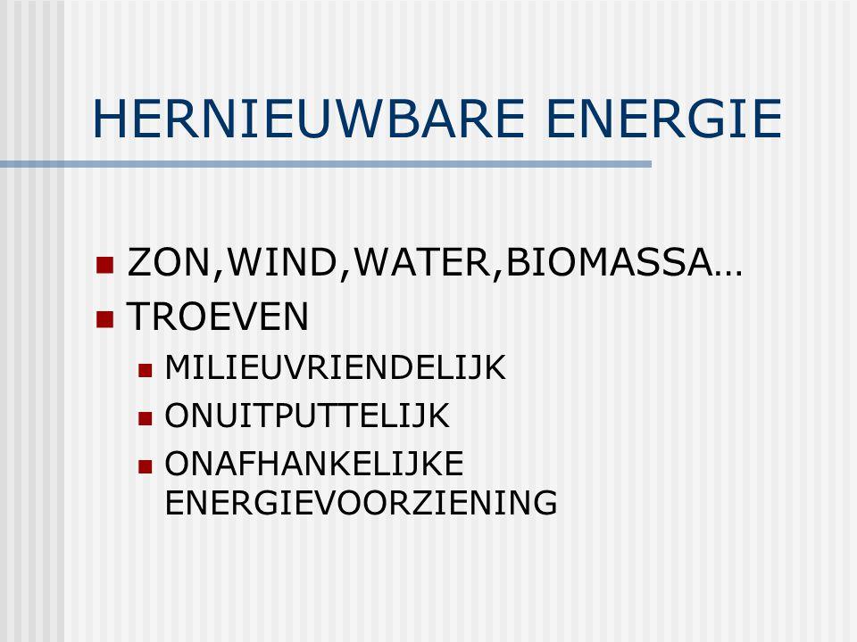 HERNIEUWBARE ENERGIE ZON,WIND,WATER,BIOMASSA… TROEVEN