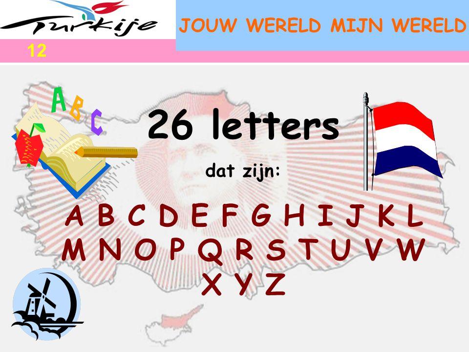 26 letters A B C D E F G H I J K L M N O P Q R S T U V W X Y Z