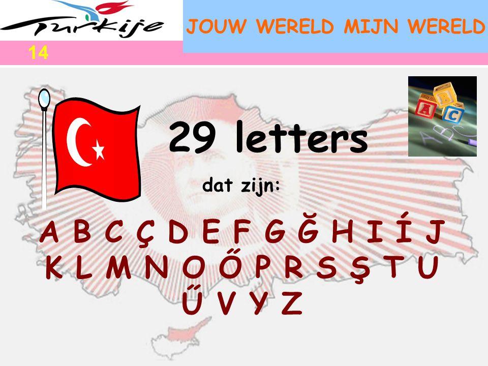 29 letters A B C Ç D E F G Ğ H I Í J K L M N O Ő P R S Ş T U Ű V Y Z