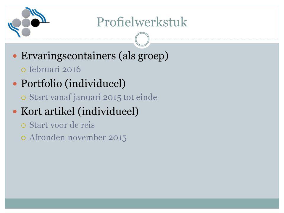 Profielwerkstuk Ervaringscontainers (als groep)