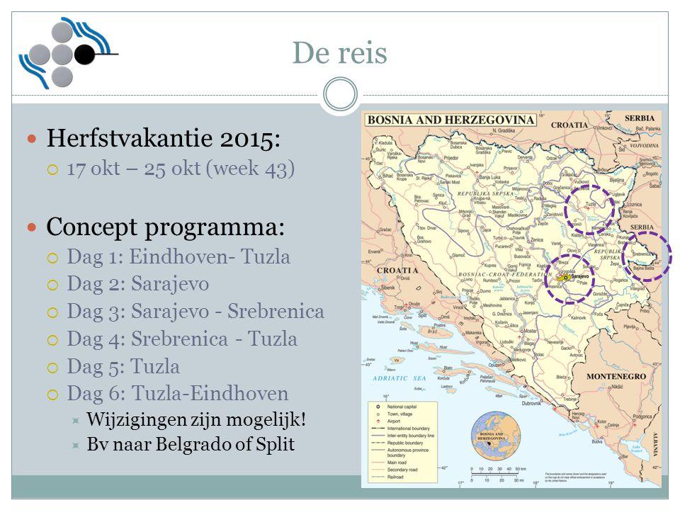 De reis Herfstvakantie 2015: Concept programma: