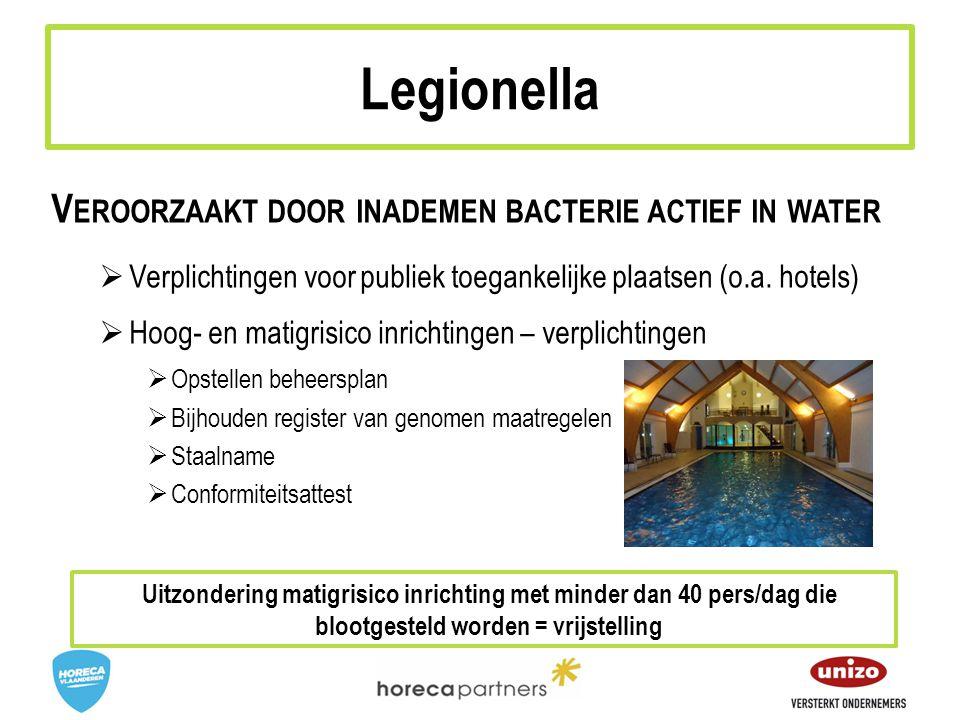 Legionella Veroorzaakt door inademen bacterie actief in water