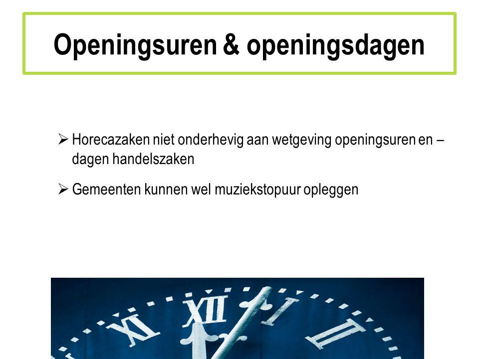 Openingsuren & openingsdagen