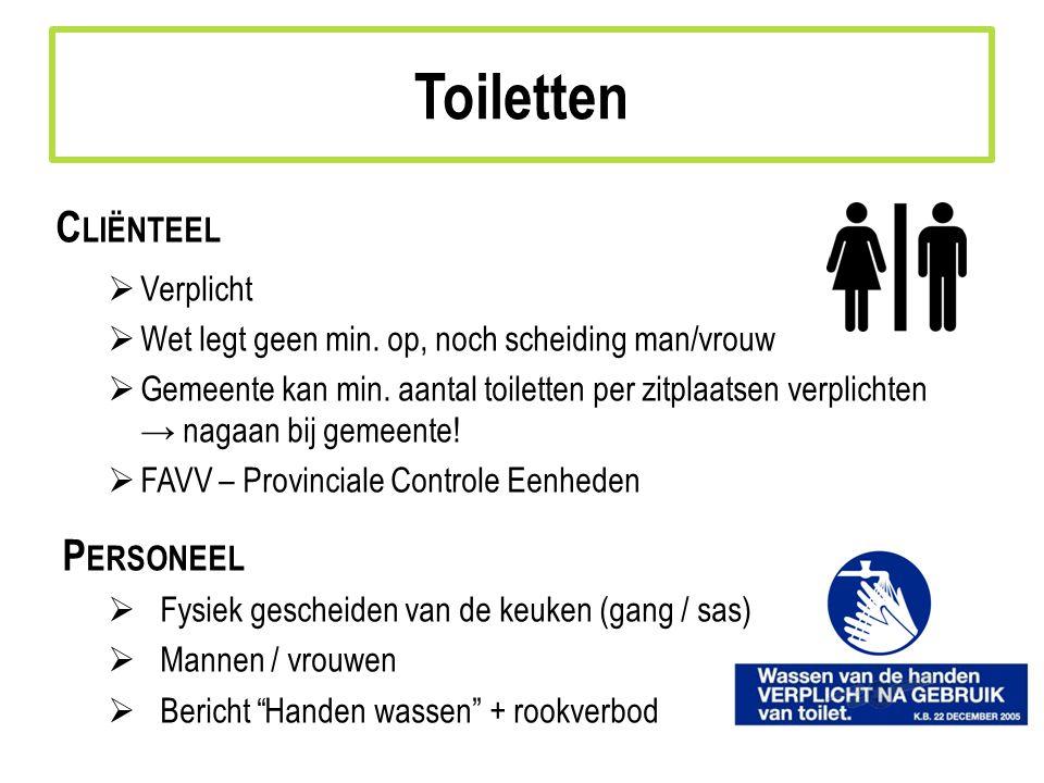 Toiletten Cliënteel Personeel Verplicht
