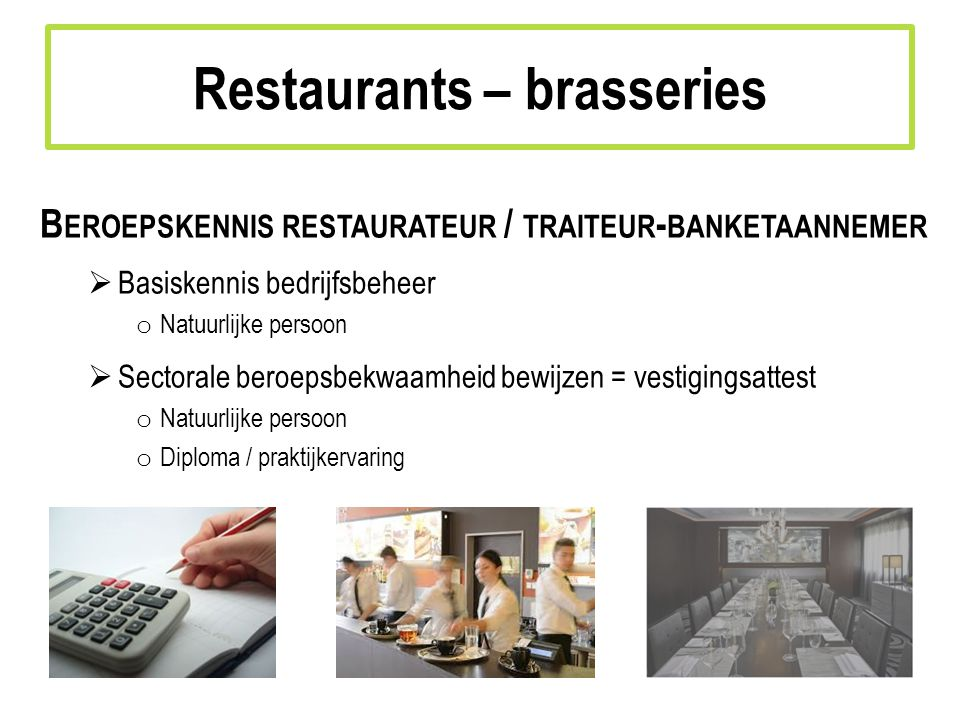 Restaurants – brasseries