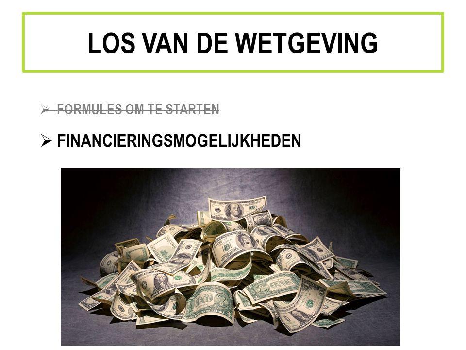 LOS VAN DE WETGEVING FORMULES OM TE STARTEN FINANCIERINGSMOGELIJKHEDEN