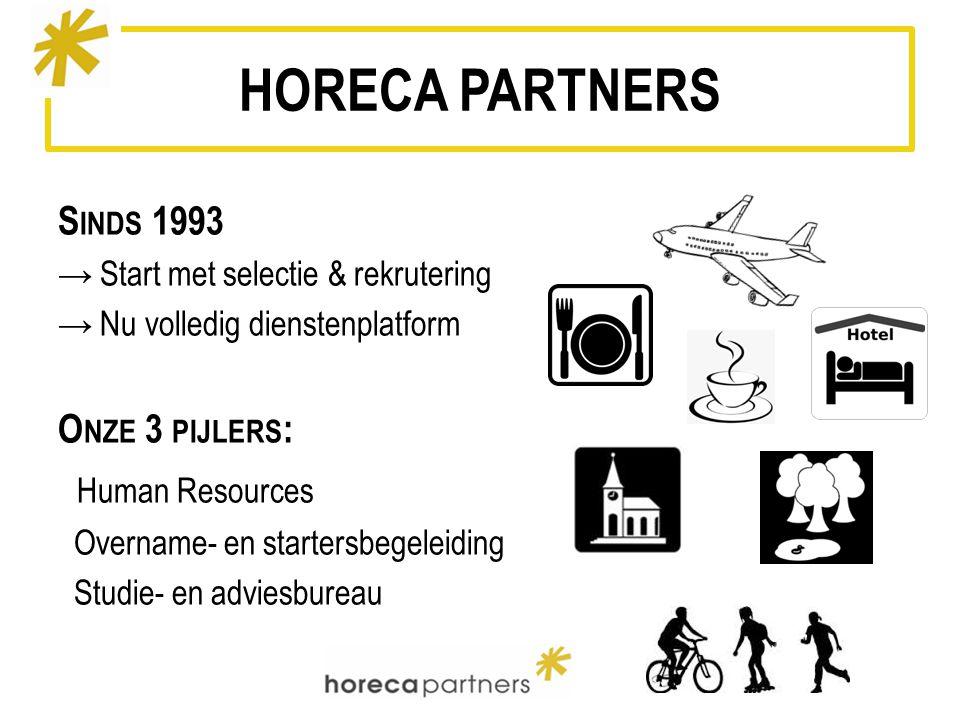 HORECA PARTNERS Human Resources Sinds 1993 Onze 3 pijlers: