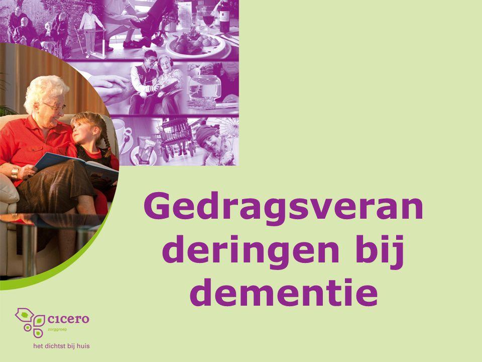 Gedragsveranderingen bij dementie