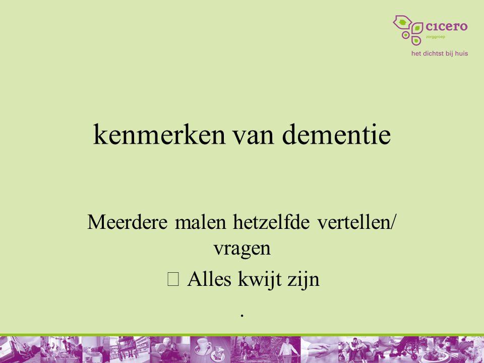 kenmerken van dementie