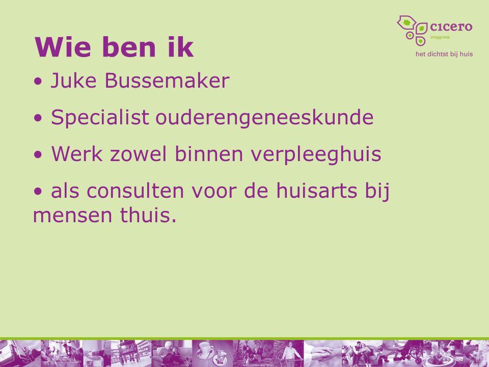 Wie ben ik Juke Bussemaker Specialist ouderengeneeskunde