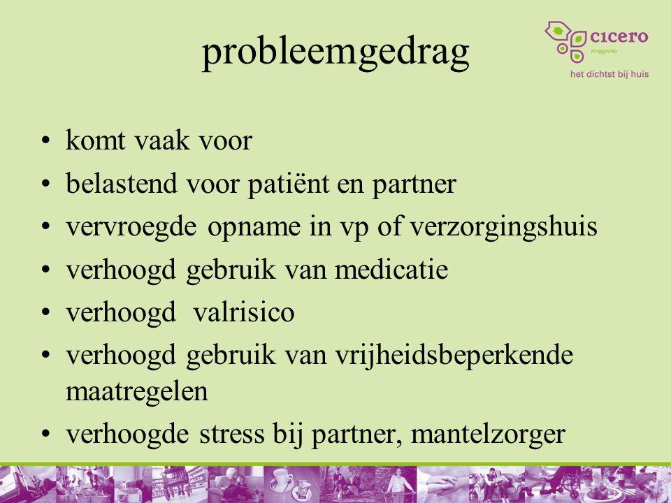 probleemgedrag komt vaak voor belastend voor patiënt en partner