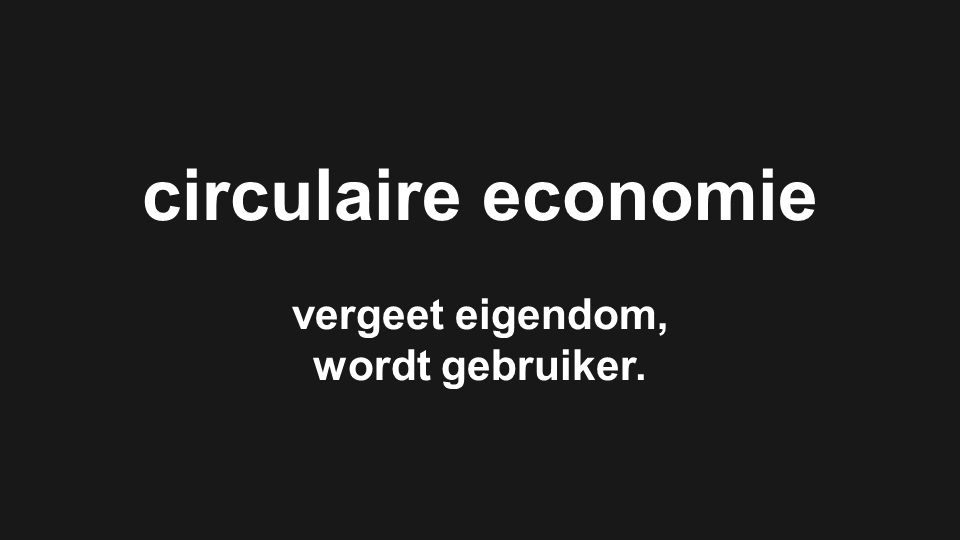 Circular performance based economy