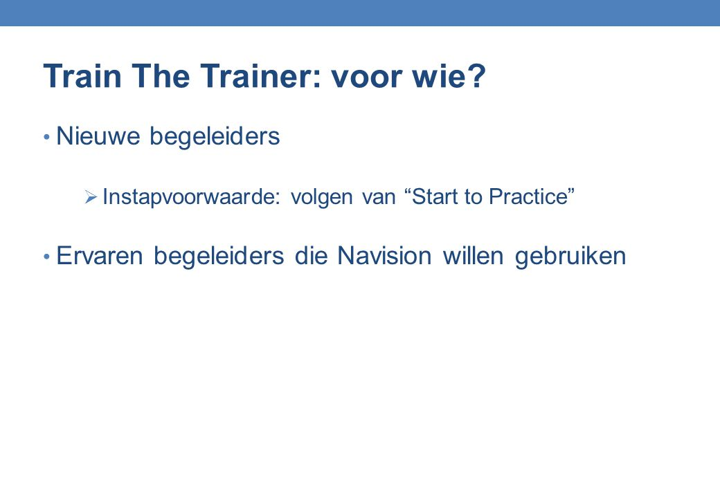 Train The Trainer: voor wie