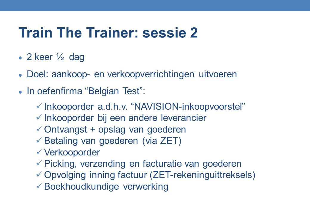 Train The Trainer: sessie 2