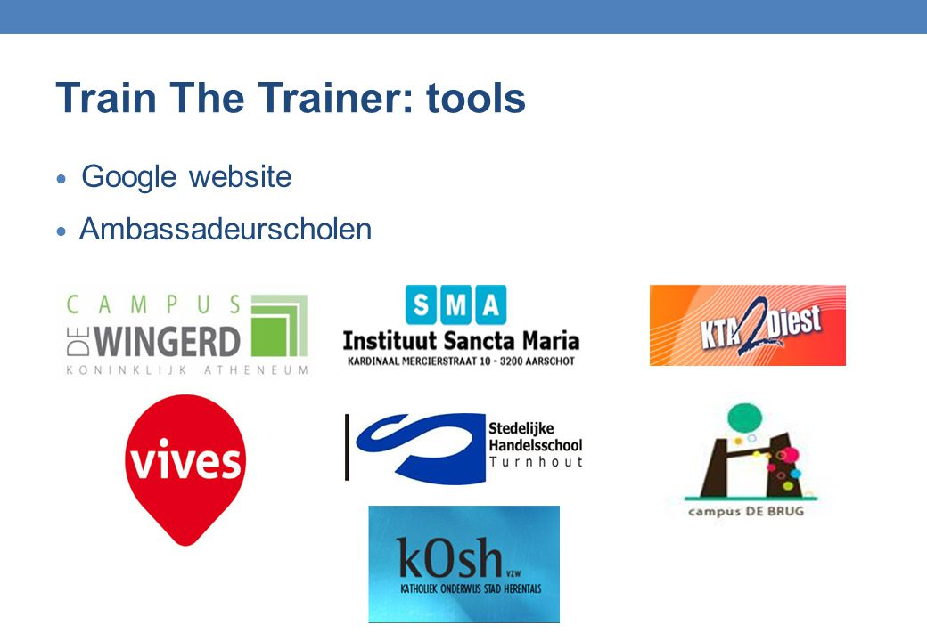 Train The Trainer: tools