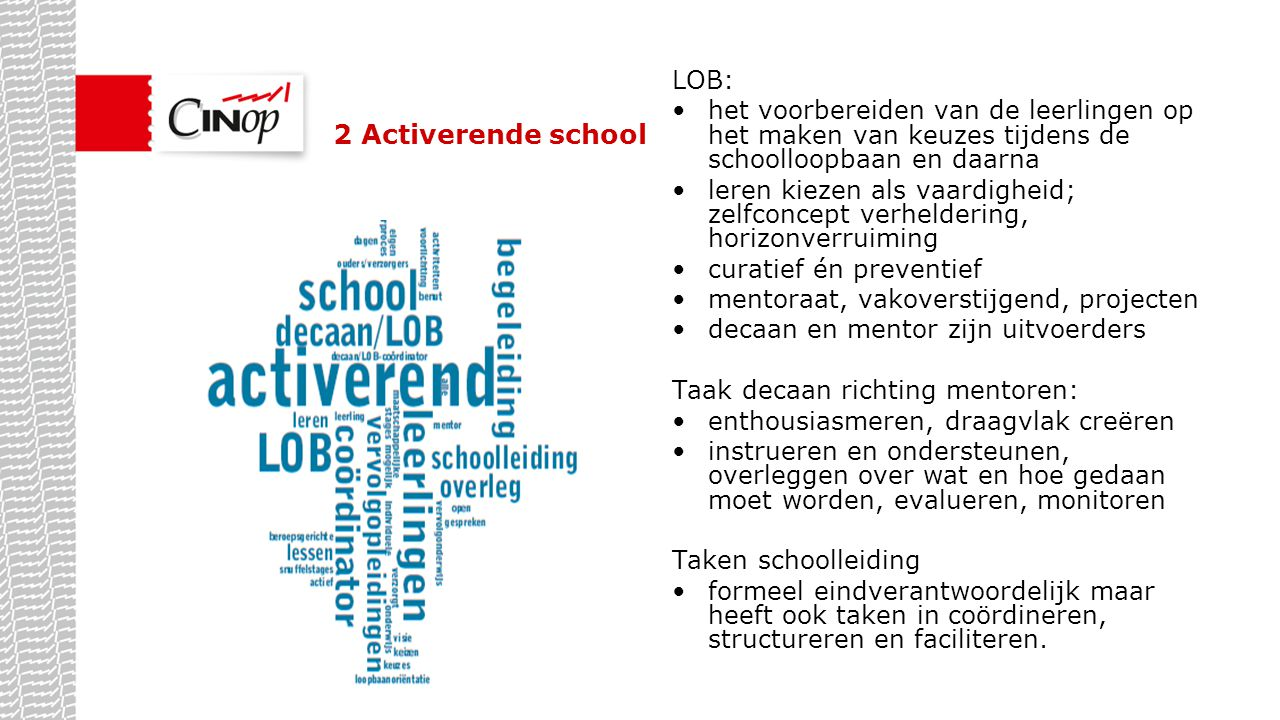 2 Activerende school LOB: