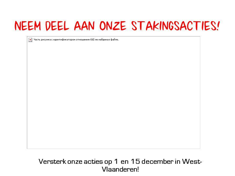 Versterk onze acties op 1 en 15 december in West-Vlaanderen!