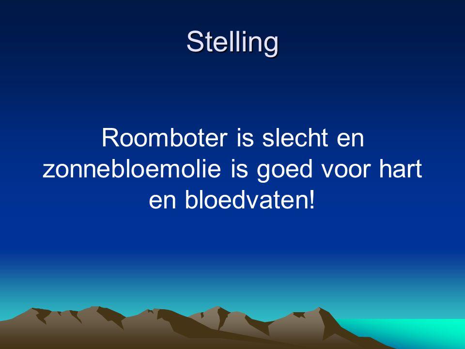 Roomboter is slecht en zonnebloemolie is goed voor hart en bloedvaten!