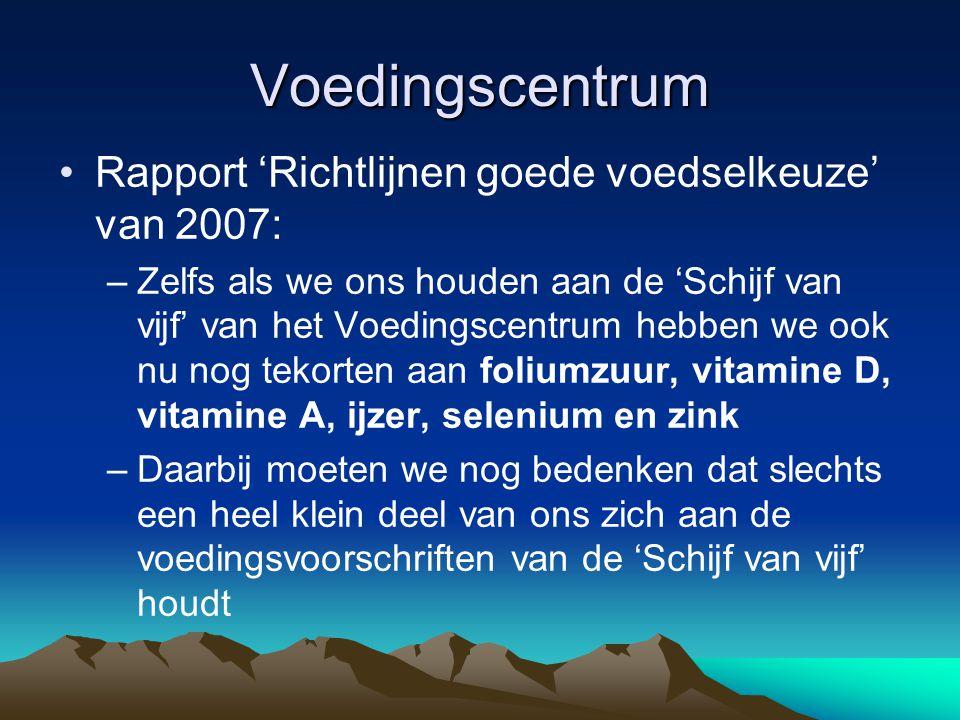 Voedingscentrum Rapport 'Richtlijnen goede voedselkeuze' van 2007: