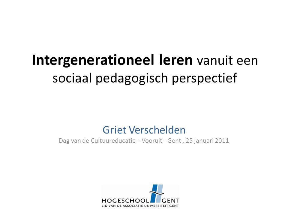 Intergenerationeel leren vanuit een sociaal pedagogisch perspectief