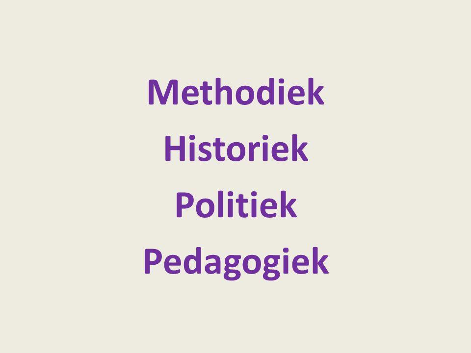 Methodiek Historiek Politiek Pedagogiek