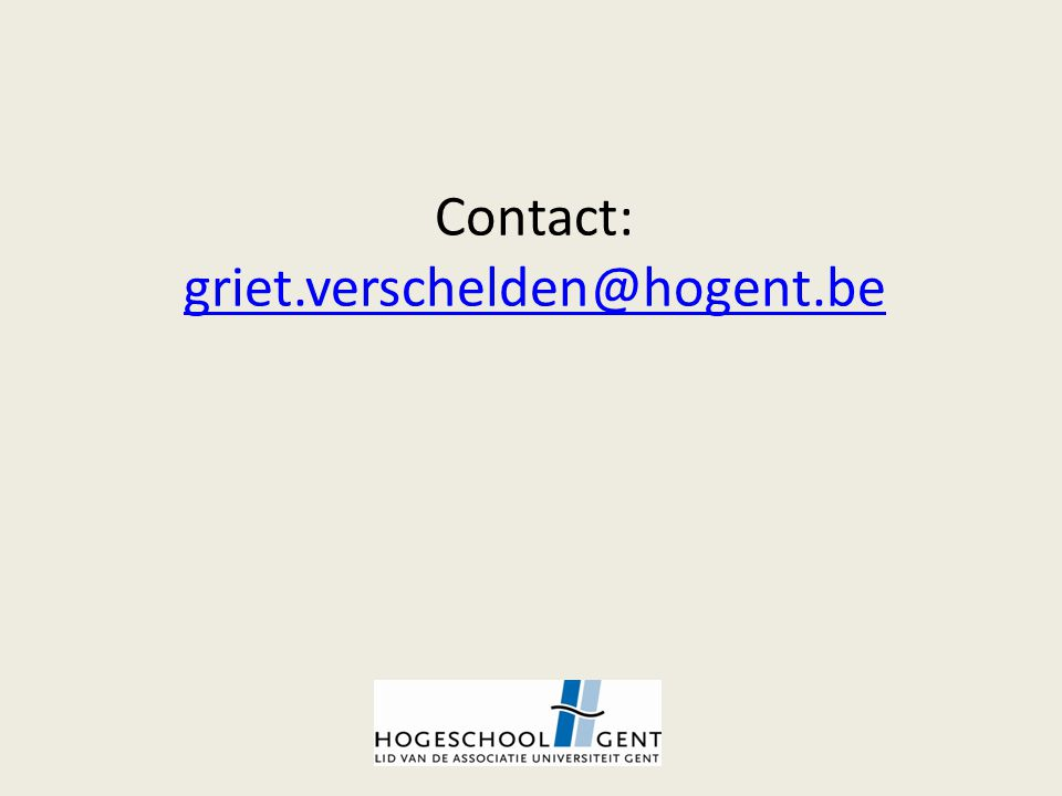 Contact: griet.verschelden@hogent.be