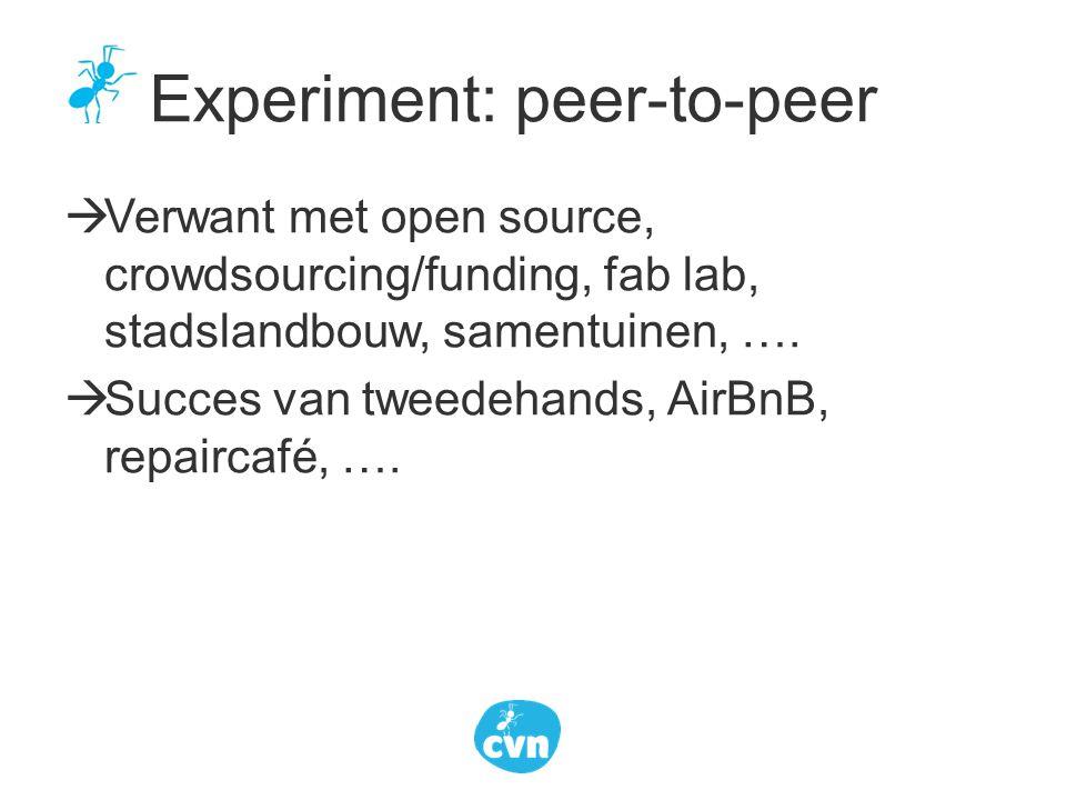 Experiment: peer-to-peer