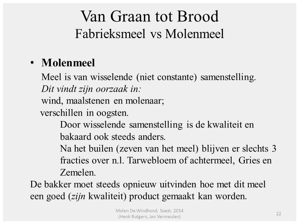 Van Graan tot Brood Fabrieksmeel vs Molenmeel