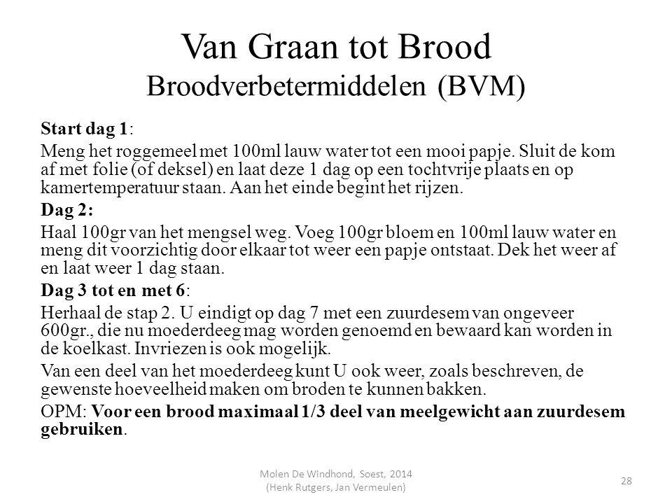 Van Graan tot Brood Broodverbetermiddelen (BVM)