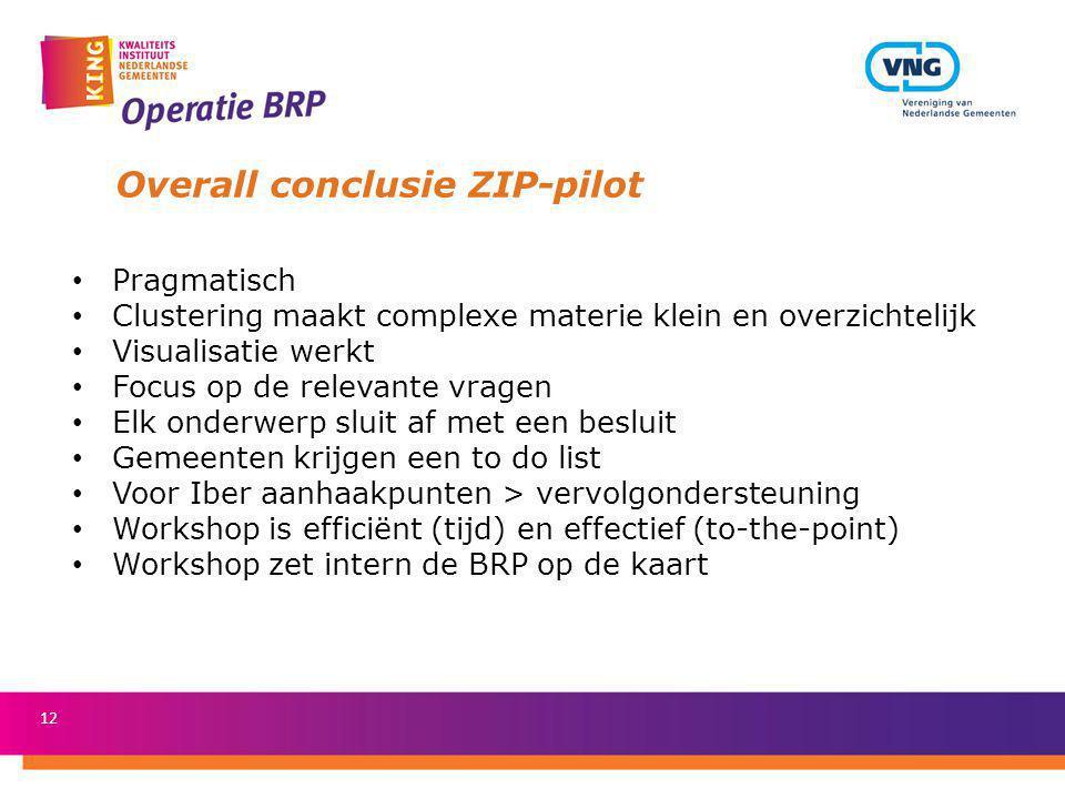 Overall conclusie ZIP-pilot