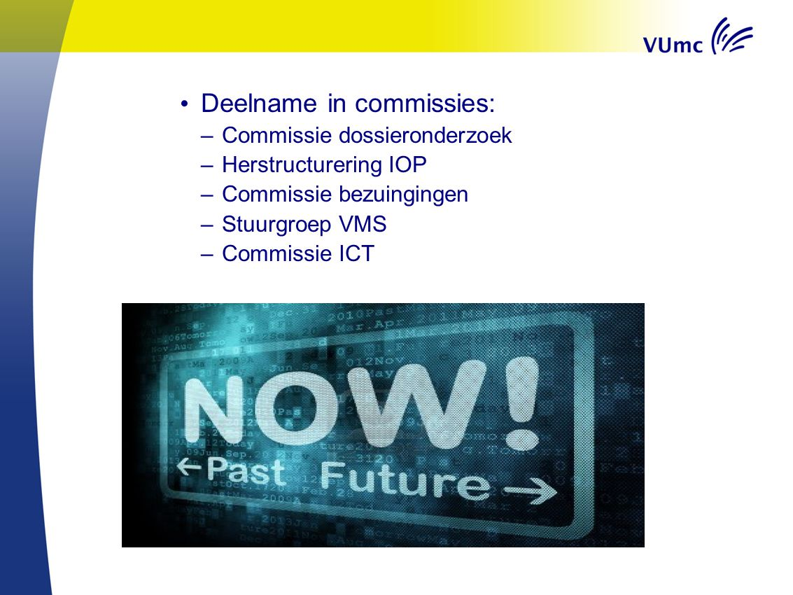 Deelname in commissies: