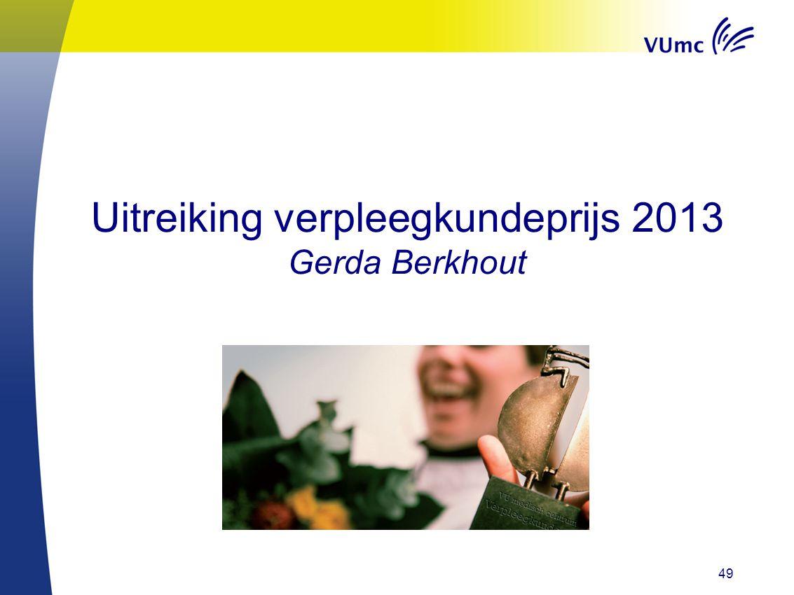 Uitreiking verpleegkundeprijs 2013 Gerda Berkhout