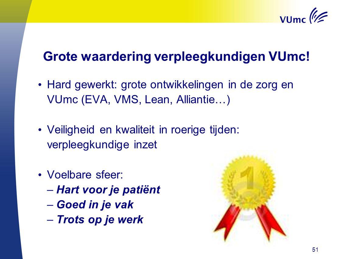 Grote waardering verpleegkundigen VUmc!