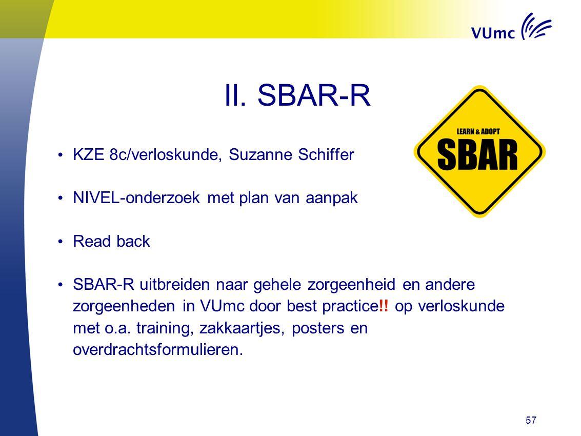 II. SBAR-R KZE 8c/verloskunde, Suzanne Schiffer