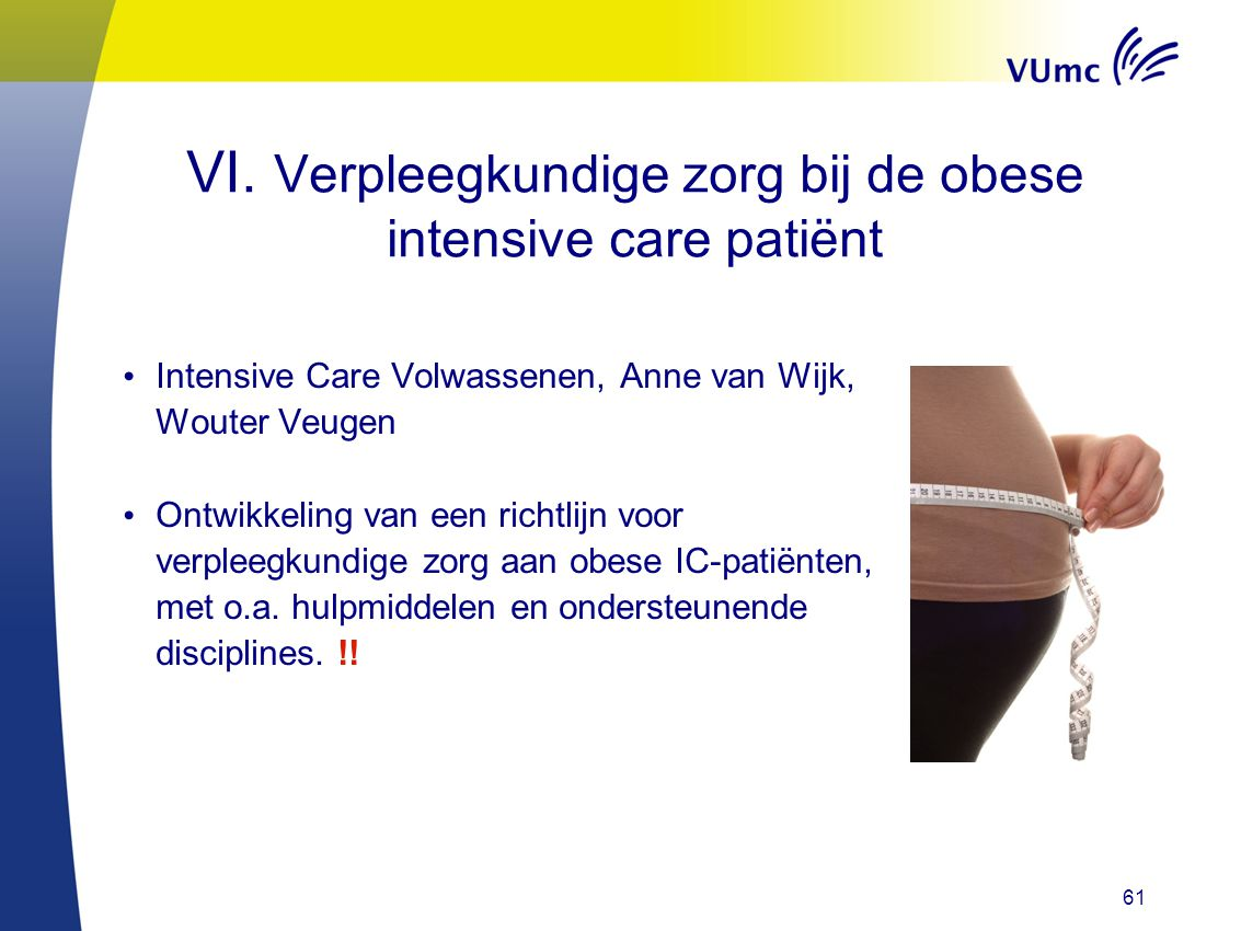 VI. Verpleegkundige zorg bij de obese intensive care patiënt