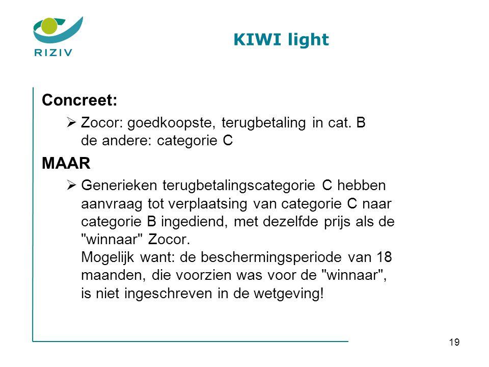 KIWI light Concreet: MAAR
