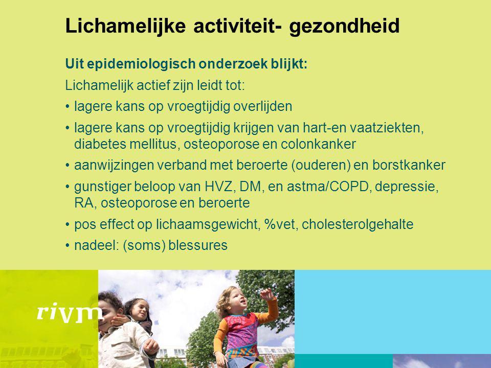 Lichamelijke activiteit- gezondheid