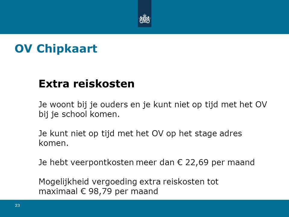 OV Chipkaart Extra reiskosten