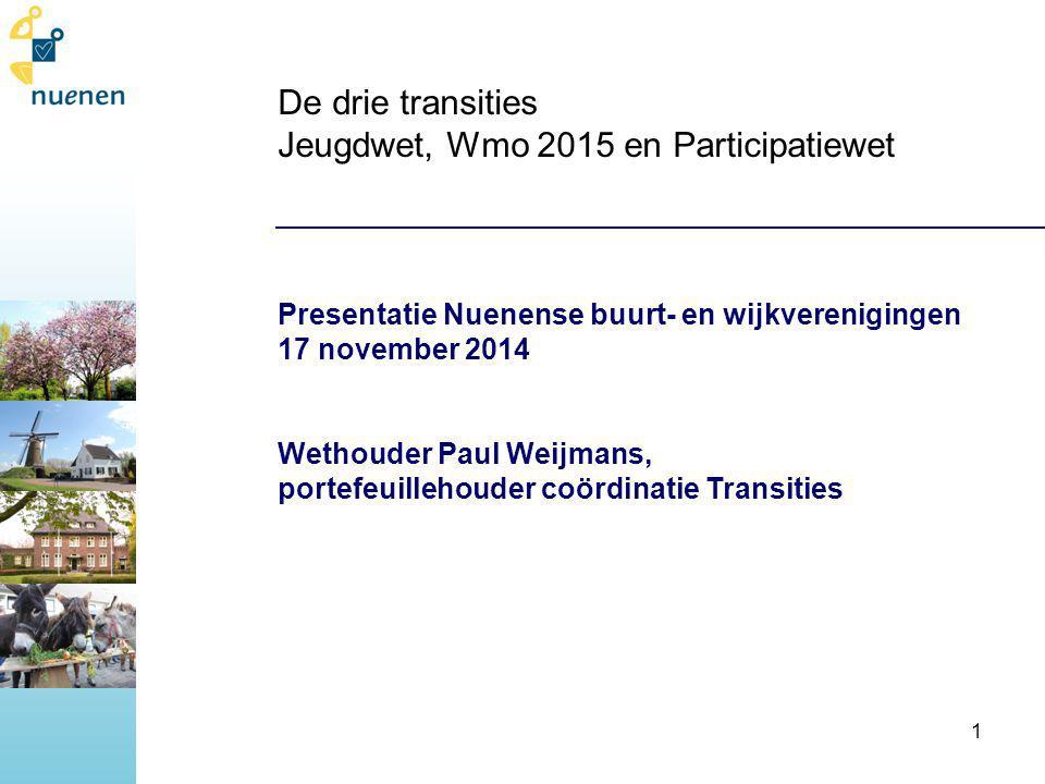 De drie transities Jeugdwet, Wmo 2015 en Participatiewet