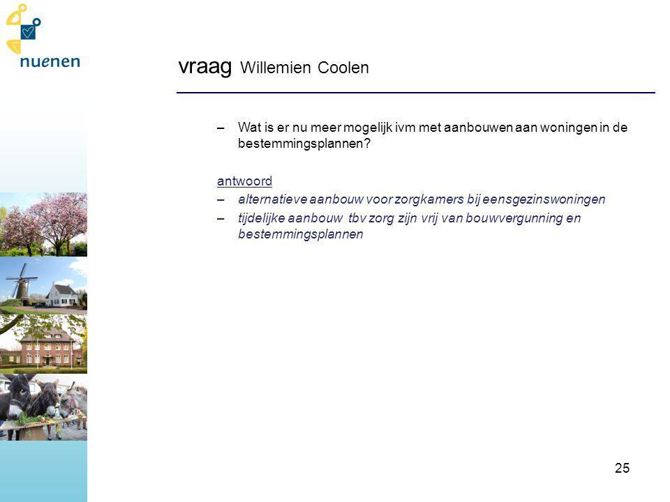 vraag Willemien Coolen