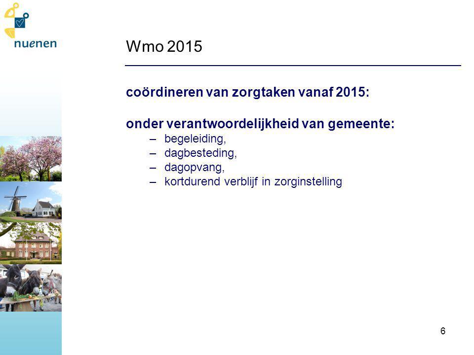 Wmo 2015 coördineren van zorgtaken vanaf 2015: