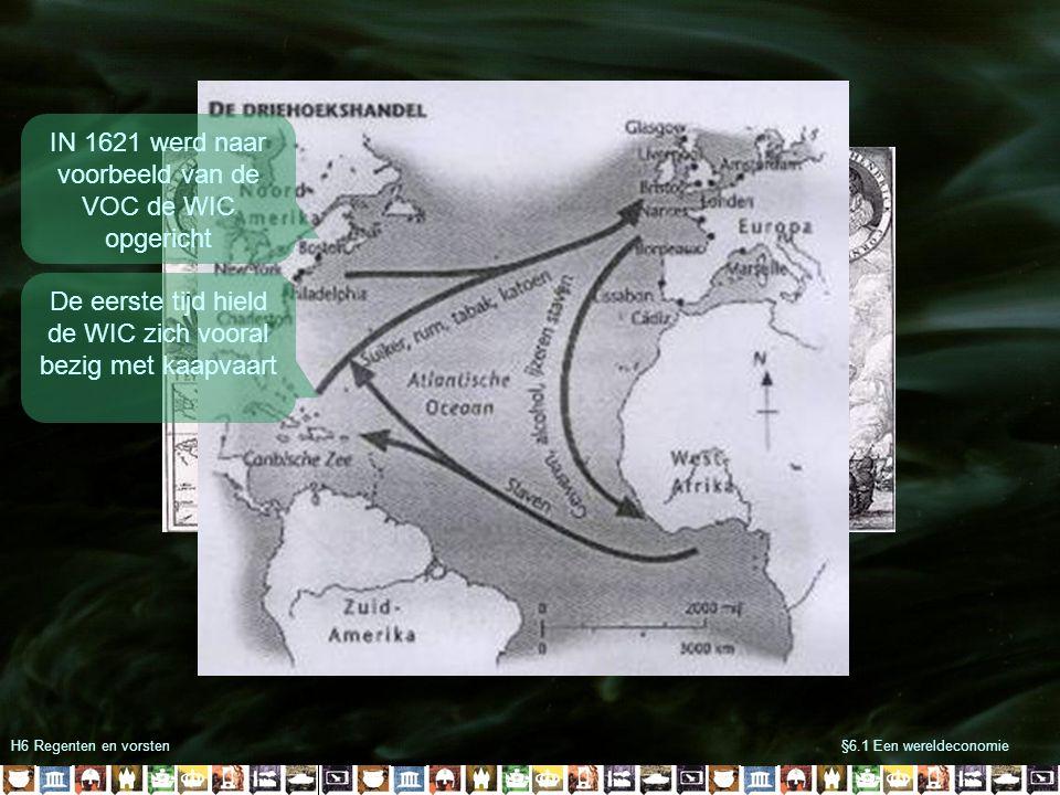 IN 1621 werd naar voorbeeld van de VOC de WIC opgericht