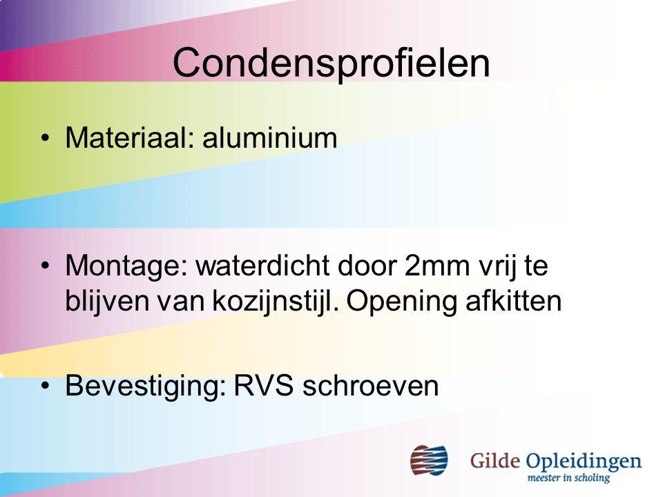 Condensprofielen Materiaal: aluminium