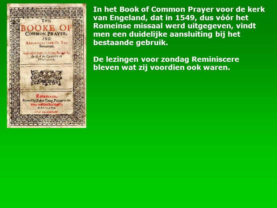 In het Book of Common Prayer voor de kerk