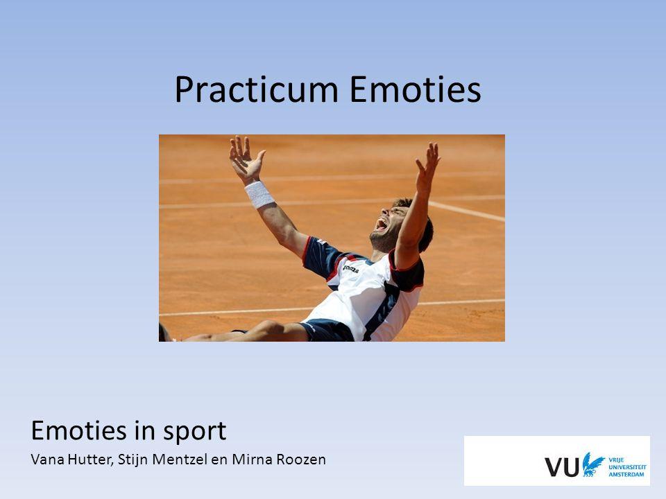 Emoties in sport Vana Hutter, Stijn Mentzel en Mirna Roozen