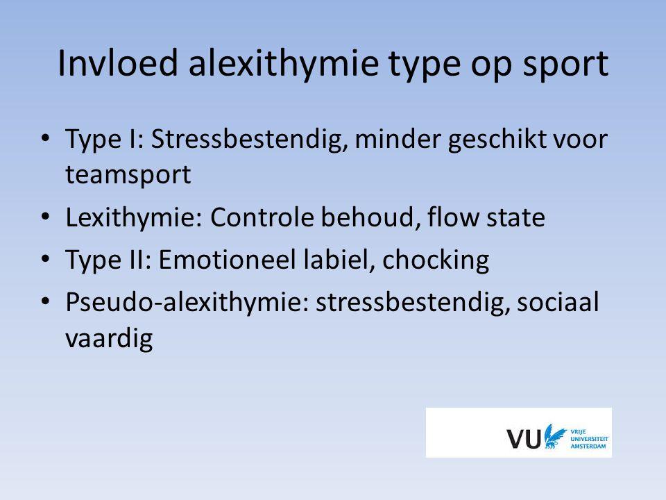 Invloed alexithymie type op sport