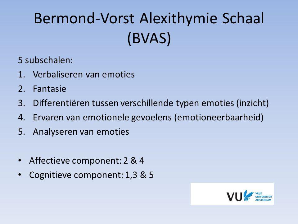Bermond-Vorst Alexithymie Schaal (BVAS)