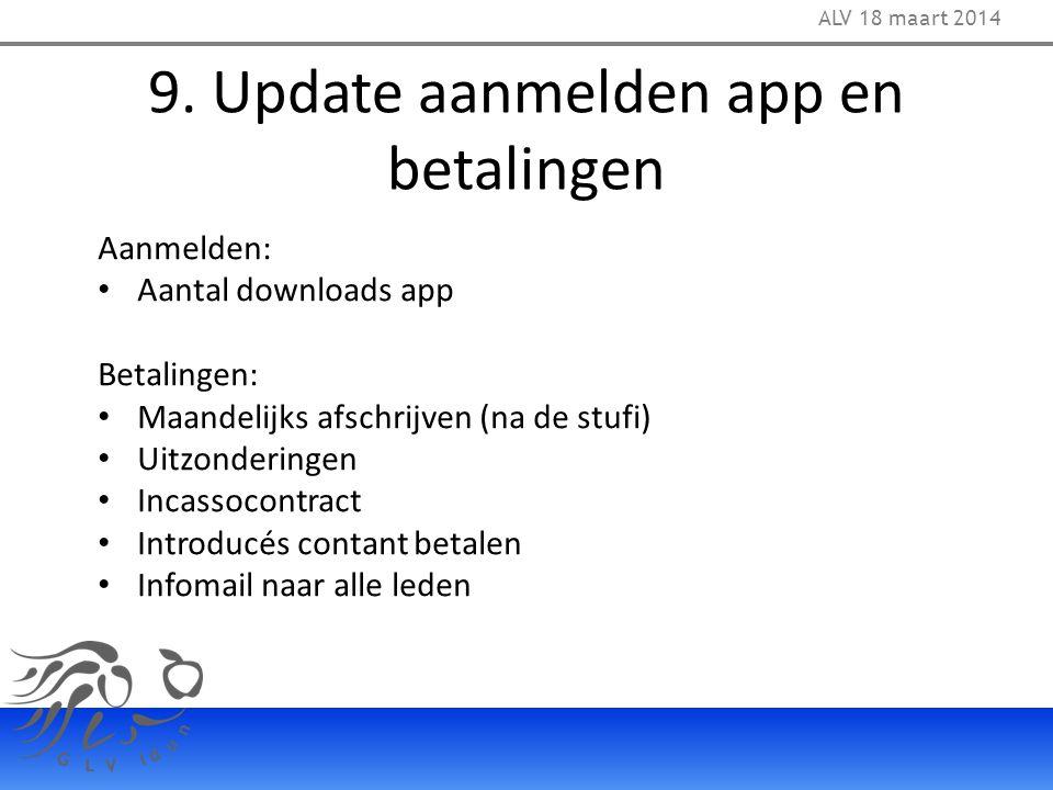 9. Update aanmelden app en betalingen