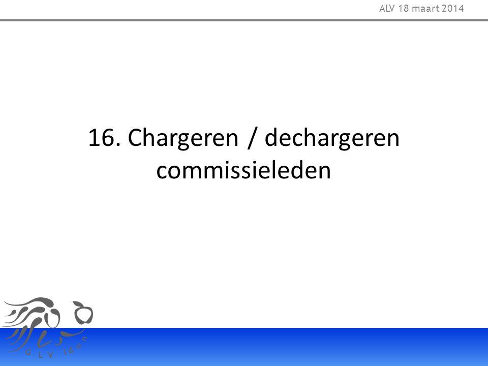 16. Chargeren / dechargeren commissieleden